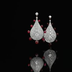James de Givenchy for Taffin, diamond and ruby earrings
