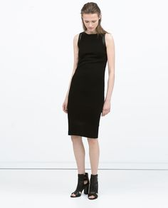 Image 1 of TUBE DRESS WITH FAUX LEATHER DETAILS from Zara