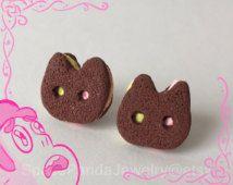 Cookie Cat Earrings, Inspired by Steven Universe