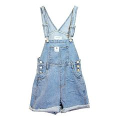 Womens Denim Blue Turn Up Casual Suspender Shorts