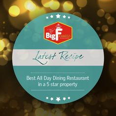 It's a proud moment for #LMGurgaon as Latest Recipe is declared as the best All Day Dining Restaurant in a 5-Star property.