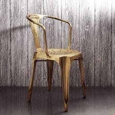 Isaac Iron Armchair in Brass - View All Kitchen - Kitchen