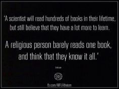 Not that religion and science are at all related, but one book does not knowledge make.