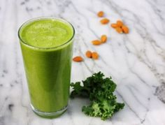 Mango, banana and coconut water make this healthy kale-infused smoothie go down easy for breakfast.