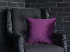 Velvet Pillows, Throw Pillows, Initial Cushions, Plain Cushions, Velvet Material, House Numbers, Pillow Inserts, Minimalist, Purple