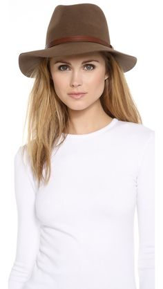 Rag & Bone Floppy Brim Fedora and white tee