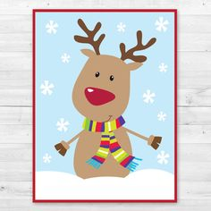 INSTANT DOWNLOAD - Pin the Nose on the Reindeer Game by MintArrowDesigns on Etsy