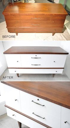 vintage hope chest trunk before and after - Home & DIY Vintage Chest, Vintage Trunks, Repurposed Furniture, Painted Furniture, Furniture Makeover, Diy Furniture, Furniture Refinishing, Furniture Vintage, Outdoor Furniture