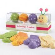 Cotton Cuddlepillars Multicolor Multi Pattern Baby Sock Gift Set   Adorable Baby Gift Idea