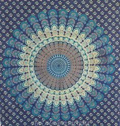 Rajasthancreations Twin Peacock Mandala Indian Hippie Wall Hanging / Tapestry by Rajasthancreations, http://www.amazon.com/dp/B015HAF5KM/ref=cm_sw_r_pi_dp_Z.kewb0HJV36P