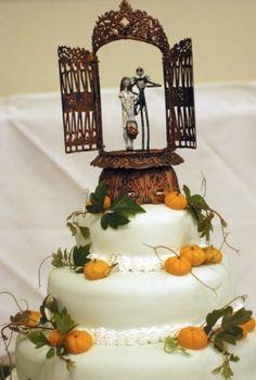 halloween wedding cake.. cute #Halloween #wedding #cake