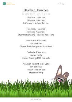 """""""Häschen, Häschen"""" - Bewegungs-Gedicht zu #ostern für #kita und #krippe - www.kita-kiste.com"""