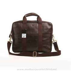 e771a6d8e90 MK 2014 Mulberry Mens Leather Laptop Briefcase Dark Coffee For Cyber Monday  Mulberry Wallet, Mulberry