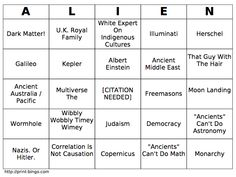 Ancient Aliens #Bingo
