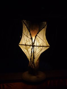 handmade lamp  made out of driftwoodhandmade by balumin on Etsy