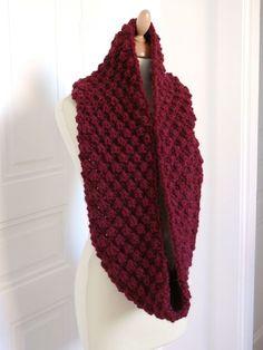 8e0605e9e56f tricot, grosse laine, patron gratuit en français Foulard Tricot, Tricot  Crochet, Tricot