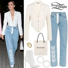Find out where your favorite celebrities buy their clothes and how you can get their looks for less. Little Mix Outfits, Satin Trousers, Studded Shorts, Kylie Jenner Style, Vetement Fashion, Checked Trousers, One Shoulder Bikini, Short Kimono, Perrie Edwards