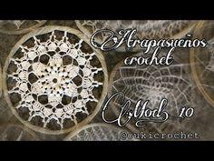 ATRAPASUEÑOS... MODELO 10. LECTURA DEL GRÁFICO PASO A PASO A CROCHET / GANCHILLO - YouTube Crochet Bib, Crochet Blocks, Irish Crochet, Crochet Doilies, Free Crochet, Crochet Patterns, Crochet Snowflakes, Irish Lace, Flower Art