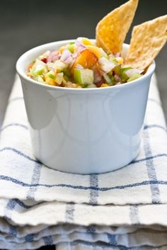 Tomatillo Peach Salsa (honey not sugar)