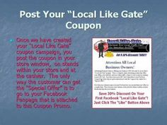 Advertising Business Local Like Gate magic software to drive new prospects and sales for retail and brick and mortar businesses.