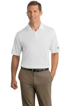 Nike Golf - Dri-FIT Pebble Texture Polo Style 373749 White Available from SweatshirtStation.com #corporatebranding #asi #businesscasual