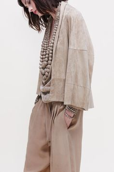 Urban Zen - Modern Souls Collection - Soft Suede Kimono Jacket