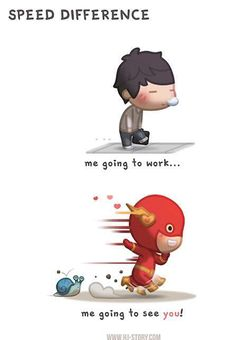HJ-STORY : Speed Difference / I didn't know I can move this fast… [Illustration - Digital - Funny] Hj Story, Cute Love Stories, Love Story, Anime Chibi, Chibi Cat, I Go To Work, Just For You, Love You, Couple Cartoon