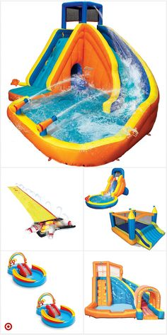 Backyard Water Parks, Fun Backyard, Cool Pool Floats, Fun Sleepover Ideas, Inflatable Water Park, My Pool, Pool Toys, Cool Pools, Summer Activities