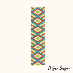 Peyote Bracelet Cuff Pattern (you can make out the pattern without buying it)