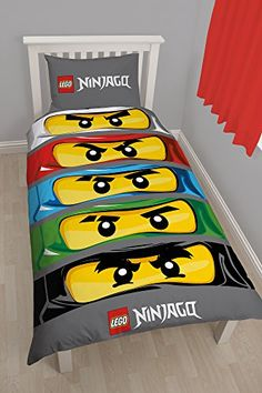 Kids' Duvet Covers - Character world Lego Ninjago Eyes Single Panel Duvet Set *** You can get more details by clicking on the image.