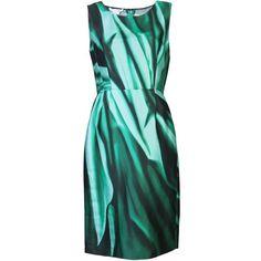 OSCAR DE LA RENTA Sheath dress ($675) ❤ liked on Polyvore