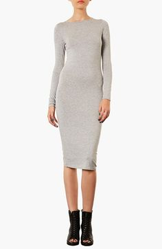 Topshop Midi Length Body-Con Dress available at #Nordstrom
