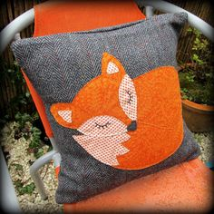 Snoozy fox cushion snoozy fox pillow by TheSherbetPatch on Etsy