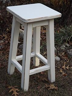 """Heirloom white/ bar stool/ counter stool/ wood/ distressed/ 25""""-28""""-30"""" high >>> Check this awesome product by going to the link at the image."""