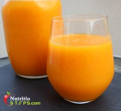 Fresh Summery Healthy Carrot Juice Smoothie Drink