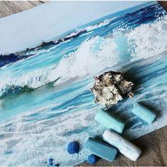 пастель. Море Елены Таткиной