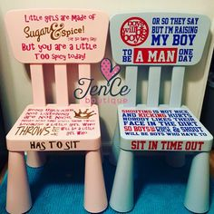 Timeout chairs!