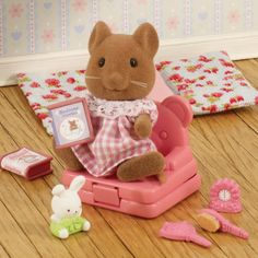Sylvanian Families Evie's Sleepover  THE BUNNY IS WHY I PINNED THIS