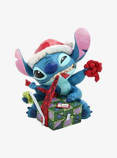 Disney Lilo & Stitch Jim Shore Stitch Bad Wrap Figurine, Very Merry Christmas Party, Disney Christmas, Christmas Gifts, Holiday, Pop Culture Shop, Disney Traditions, Collectible Figurines, Tole Painting, Lilo And Stitch