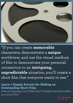 Learn how to make a short film with these 7 simple secrets by expert Timothy Cooper and other must-have short film resources! #shortfilms #screenwriting #filmmaking