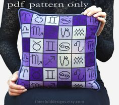 Astrology Zodiac Cross Stitch Pattern PDF by ThreefoldDesigns, $20.00