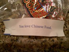 WORST FORTUNE COOKIE FORTUNE EVER !