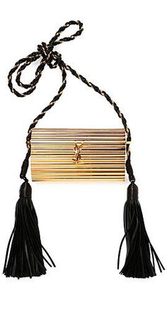 yves saint laurent opium 2 tassel velour crossbody bag
