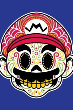Very cool Mario sugar skull design!