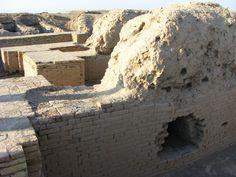 Ur, Mesopotamia (Irak); detalle de la construcción, paredes y columnas