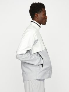 Shop Hill City's City Anorak Jacket: A lightweight, water-repellent shell that's ideal for travel and commuting. We designed it with raglan sleeves for even more ease of movement. White Outfit For Men, White Outfits, Lab Jackets, Chef Jackets, Hill City, Anorak Jacket, Waterproof Fabric, Shapewear, Menswear