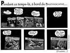Publiée dans le Bathyscaphe n°9 (printemps 2013). Strip n°4.