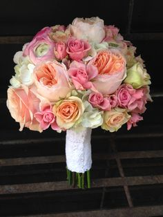 Shades of pink and peach with Juliet Garden Roses