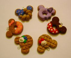 Kawaii Clay Charms | These very cute charms are made using cold porcelain clay, fimo clay ...