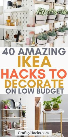 Ikea Furniture Hacks, Furniture Makeover, Ikea Hack Desk, Ikea Havks, Ikea Hack Bathroom, Ikea Closet Hack, Hacks Ikea, Closet Desk, Ikea Wardrobe